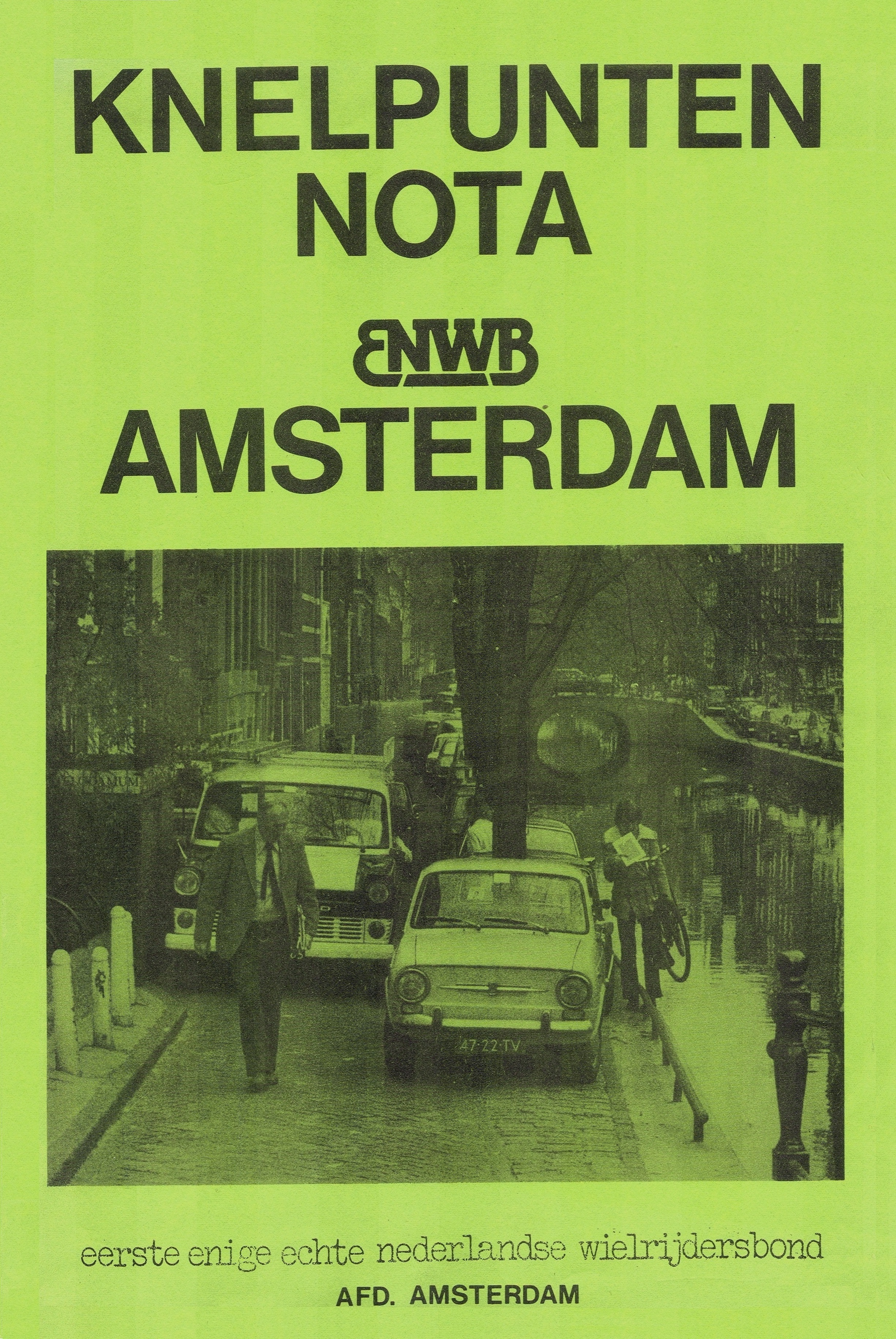 5. Knelpuntennota 1977 voorkant